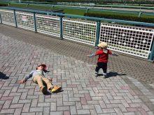 春ピクニック。阪神競馬場