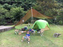 ハイマート佐仲 初めての父子キャンプ
