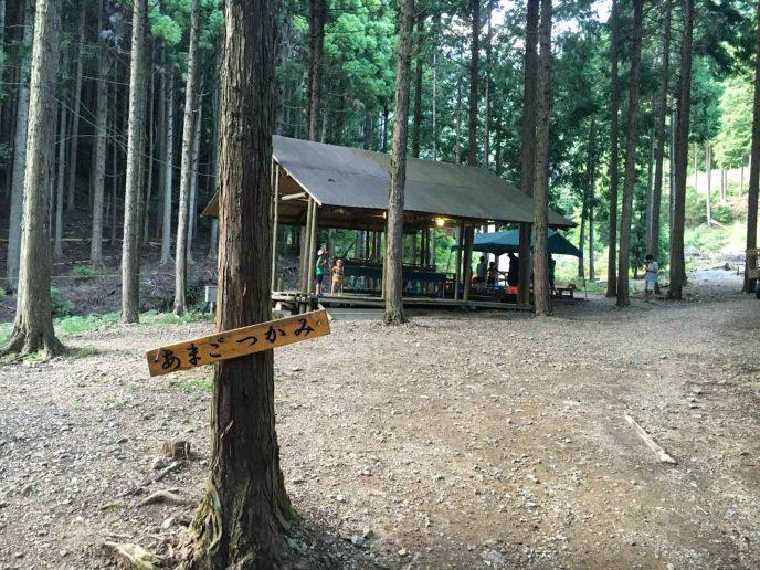 森のひとときでキャンプファイヤー 今年2回めの父子キャンプ