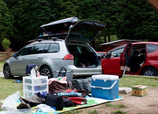オートキャンプの設営・撤収時間を短縮する。