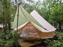 能勢の里山「杜のテラス」でグランピング。アクセス良好な大人のキャンプ場。