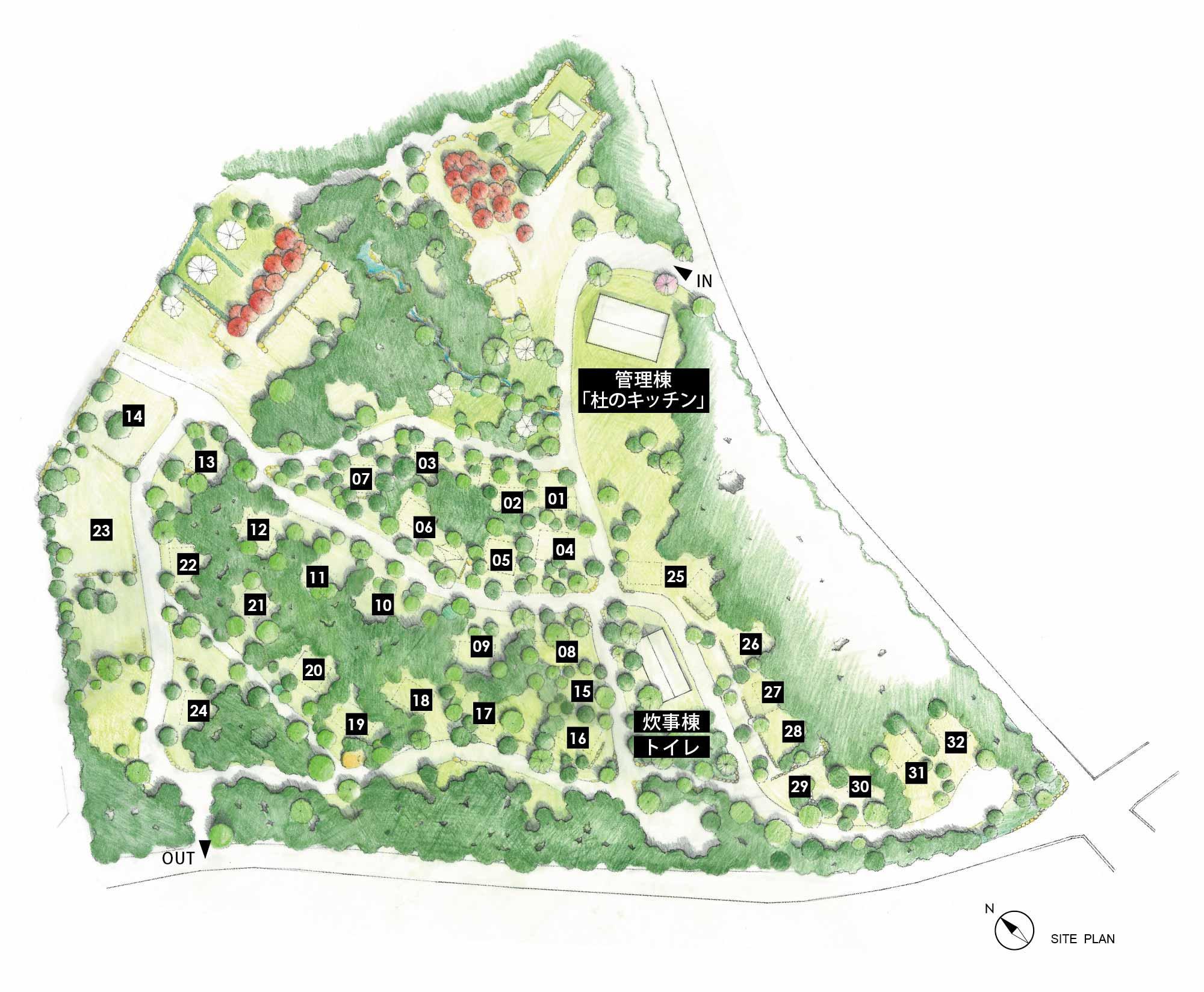 Map campsite